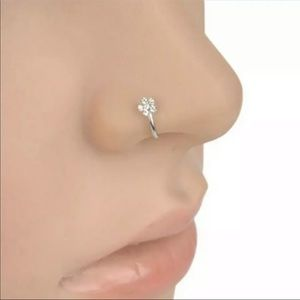Jewelry - 3/$20 NWT Fake Nose Ring in Silver